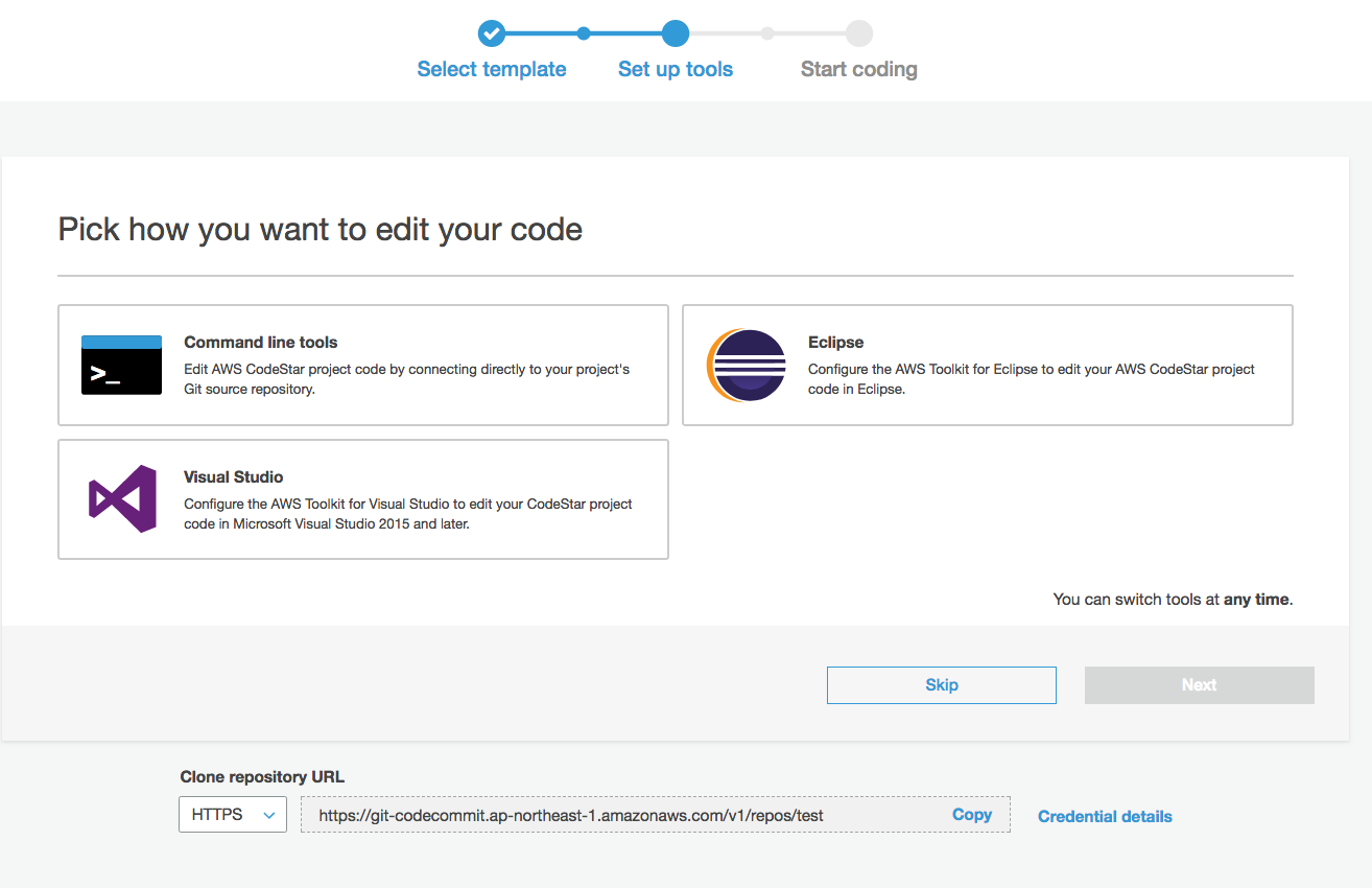 AWS CodeStar to Develop, Build and Deploying Web
